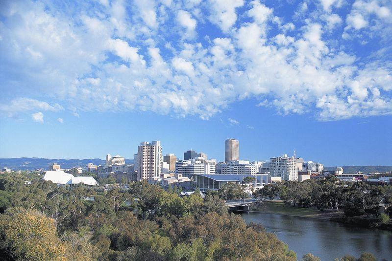 С столицей штата южная австралия
